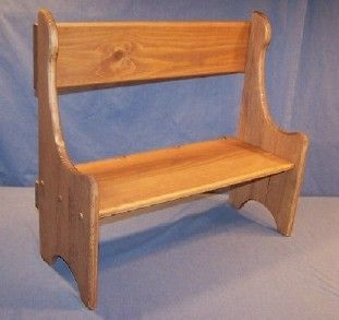 Childrens Wooden Play Furniture Mini Deacon Bench Ponderosa White Pine