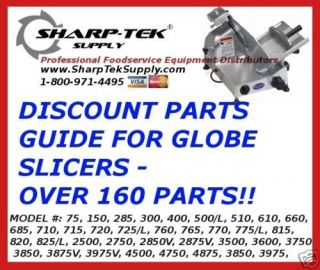 GLOBE DELI MEAT SLICER PARTS GUIDE   OVER 160 PARTS