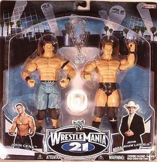 WWF WWE WrestleMania 21 John Cena Chain Gang vs. JBL Cowboy Hat