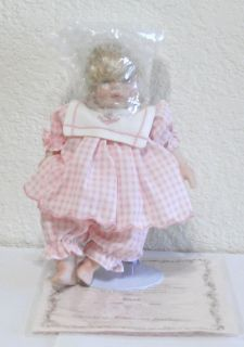 RARE VINTAGE LTD ED DOLLS BY PAULINE Sarah and Christopher NIB COA