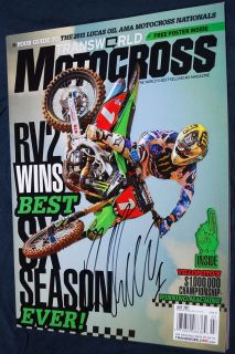 RYAN VILLOPOTO Signed TW Motocross Magazine 7/11 Supercross