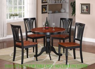 ROUND TABLE DINETTE KITCHEN TABLE IN BLACK & BROWN FINISH 36 DIAMETER