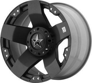 BLACK WHEELS RIMS CHEVY SILVERADO GMC SIERRA 2500 3500 DODGE RAM