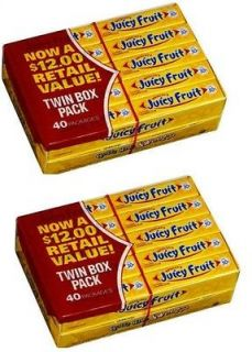 Wrigleys JUICY FRUIT Juicyfruit Chewing Gum 400 Pieces FRESH US Gums