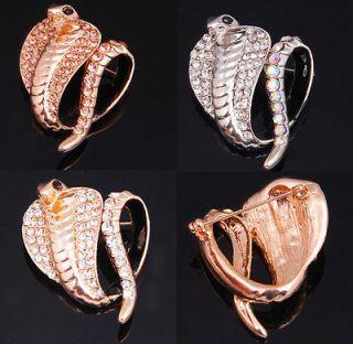 Christmas Sale Delicate Austria Crystal Cobra Snake Animal Brooch Pin