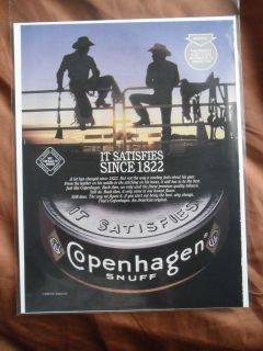 1996 Print Ad Copenhagen Smokeless Tobacco Western Rodeo Cowboys Dusk