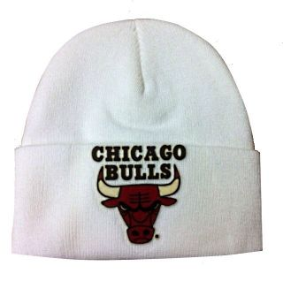 VINTAGE CUSTOM CHICAGO BULLS KNIT CAP HAT BEANIE SKI SKULLY CUFFED
