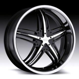 18 inch Milanni Force Black Wheels Rims 5x110 +38