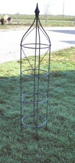 54 Wrought Iron Rose Topiary Garden Plant Trellis   Heavily Made to