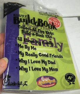 Chick fil A Kid Meal Toy Klutz Build a Book All About My Family By Me
