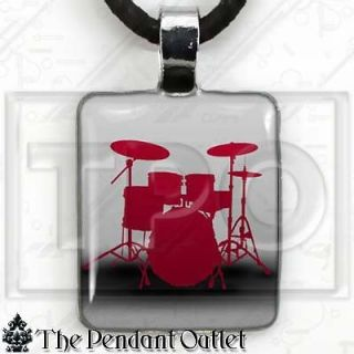 Set Kit Snare Music Musician Rock Roll Band Charm Pendant Necklace