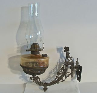 Hanging Cast Iron Eagle Oil Lamp Holder W/ Wall Mount/Bracket