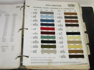 VINTAGE TRUCK ~ CAR PAINT COLOR CHIP CHARTS ~ 95 DIFF. ~ GM ~ FORD