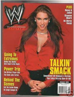 WWE /WWF Divas female wrestling magazine Stephanie McMahon w/poster