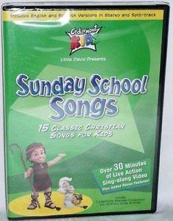 Kids Sunday School Songs NEW DVD 15 Classic Christian Songs for Kids