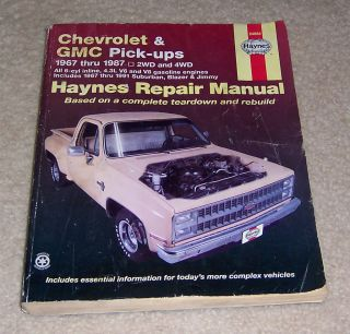 Chevrolet & Gmc Pick Ups Automotive Repair Manual/Chevrolet & GMC 1967