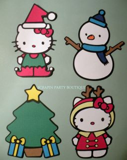 Cricut HELLO KITTY Christmas Holiday SNOWMAN ELF REINDEER TREE