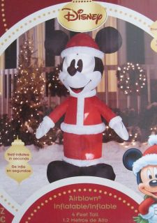 Mickey Mouse Christmas Airblown Inflatable Outdoor or Indoor NEW