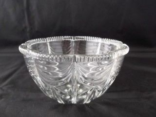 Footed Kig Indonesia Clear Glass Bowl Scalloped Edge