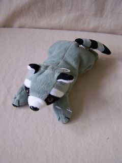 Plush Raccoon Bean Toy Gray Black White Stuffed Animal