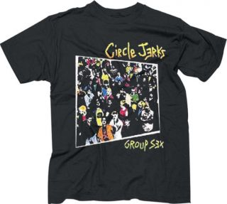 Circle Jerks  Group Sex Punk T shirt