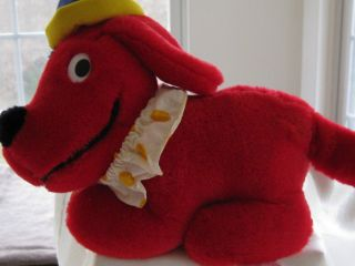 1991 Dakin Musical Wind Up Clifford the Big Red Dog Plush Wags His