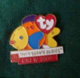 MCDONALDS Ty Teenie Beanie Babies CREW 2000 Pin