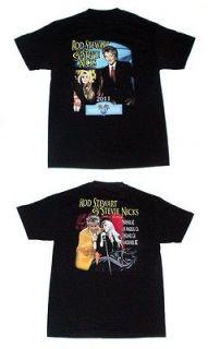 ROD STEWART & STEVIE NICKS Heart & Soul 2012 American TOUR T SHIRT