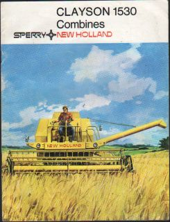 New Holland Clayson 1530 Combine Brochure Leaflet