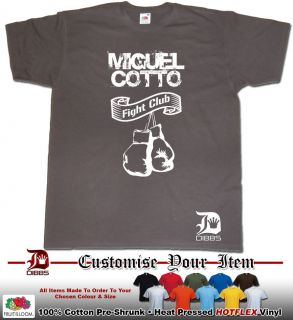 MIGUEL COTTO TSHIRT BOXING FIGHT CLUB BY DIBBS CLOTHING