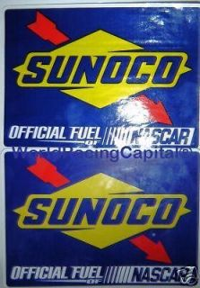 SUNOCO OFFICIAL FUEL NASCAR DECALS/STICKER S INDYCAR/NHRA/U SAC RACING
