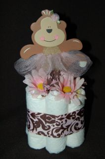Cake TUTU CUTE/BALLET MONKEY Baby Shower/Nursery Decoration/Dec or