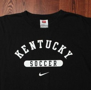 Kentucky Wildcats UK Soccer Nike College Apparel NCAA T Shirt Black XL