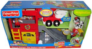 Fisher Price Little People Rescue Ramps Fire Station
