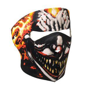 Motorcycle Bike Ski Paintball Neoprene Face Mask   SMOKING CLOWN
