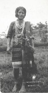 Mountain Girl rppc BEAUTY Costume Philippines ca 1915