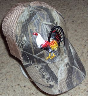 MESH CAMO CAMOUFLAGE GAME FOWL ROOSTER COCK CHICKEN CAP HAT SNAP BACK
