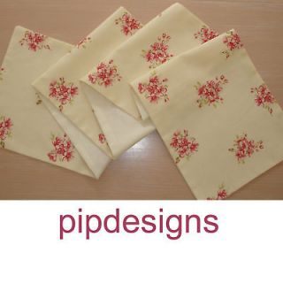 NEW Coffee Table Runner 90cm ( 3ft ) ~★~ Cream Pink Red Flowers