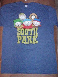 Mens South Park Southpark Kyle Cartman Stan Kenny Blue T Shirt New