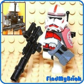 SW602B Lego Star Wars Clone Shock Trooper Minifigure with Radio