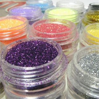 BF 12 Color Hexagon Glitter Dust UV Gel Nail Art Polish Set #299