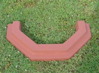 LARGE TREE RING BORDER EDGING CONCRETE STEPPING STONE MOLD 5011
