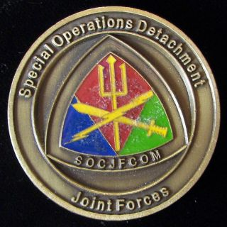 US Special Operations Detachment Joint F Challenge Coin