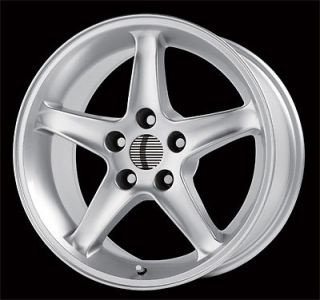 16 MUSTANG COBRA R WHEELS SILVER 5 LUG 5X4.5 ET15 SET