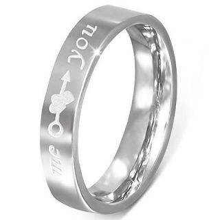 4mm Stainless Steel Comfort Fit Promise Ring   Free Engraving   ZR0041