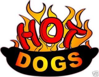 Hot Dog Hotdog Concession Food Advertisement Decal 14