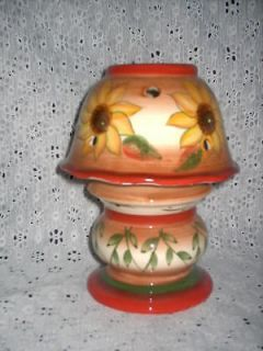 Newly listed Home Interiors # 12275 Sunflower Tuscan Candle Lamp NIB