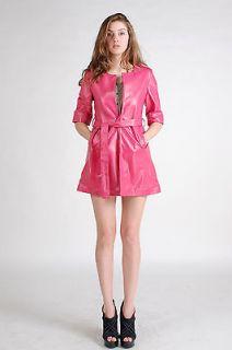 Pink Sheep Skin Leather Jacket Coat Outerwear FFJASHEL09