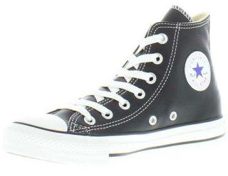 ba38d13d0b01 ... Converse Genuine Chuck Taylor Allstar Hi Black Leather Unisex Boots ...