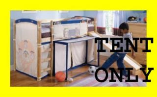 New Boys Girls Sports *Tent ONLY* Loft Bunk Kids Bed NR